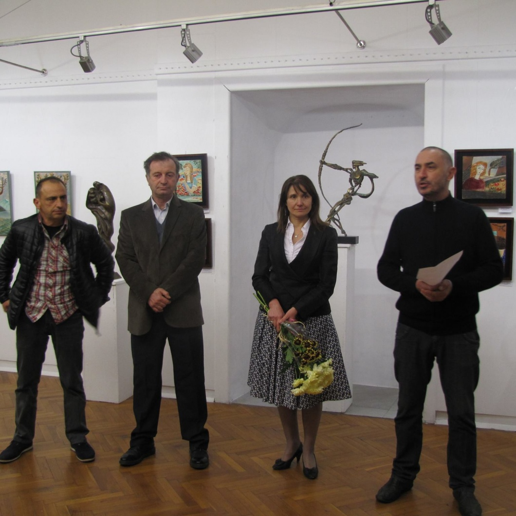 "Откриване на изложба в галерия ""Дружество на художниците - Бургас"""